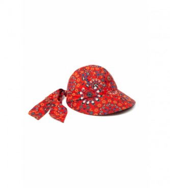 Desigual Cappello Butterfly Galactic Print rosso