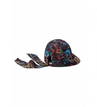 Desigual Chapeau imprimé Tropicuban noir, multicolore