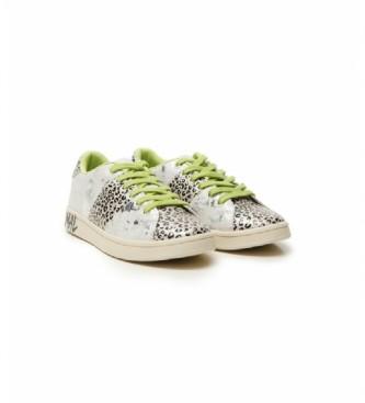 Desigual Zapatillas Cosmic Leopard plateado, marrón