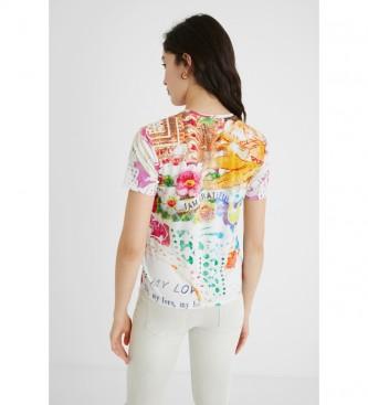 Desigual Camiseta TS Tattoo crudo, multicolor