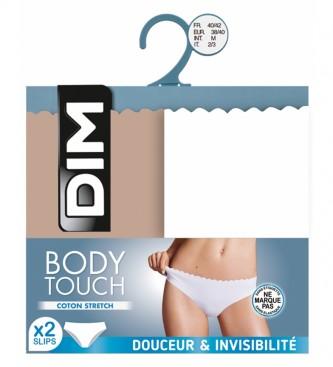 DIM Pack de 2 cuecas Body Touch multicoloridas de senhora
