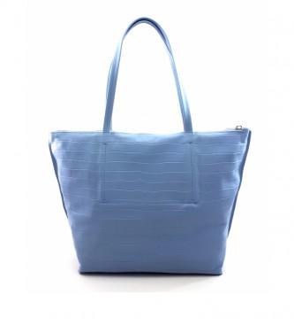 Dimoni Bolso de piel azul -40 x 29 x 13 cm-