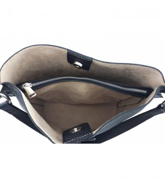 Dimoni Bolsa de couro preto AE110PANE -26x28x16cm