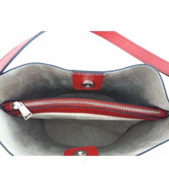 Dimoni Borsa in pelle rossa AE110PACE -26x28x16cm-