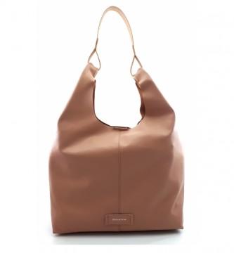 Dimoni Nude leather bag -34 x 31 x 12 cm-.