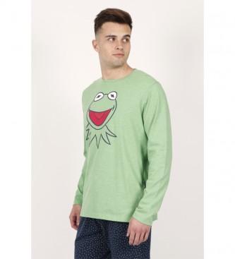 Disney & Friends Pyjama à manches longues Kermit Face vert