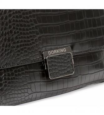 Dorking Bo1002 bolsa de couro preto -32x24cm