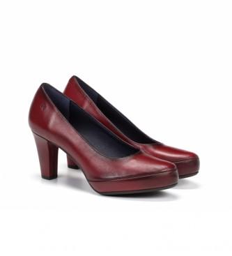 Dorking Zapatos de piel Blesa D5794 Sugar granate -Altura tacón: 8 cm-