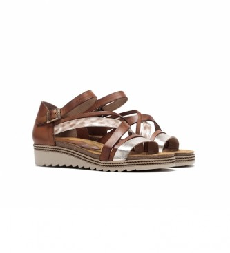 Dorking Leather sandals D8542txlle brown, leopard