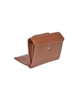 El Caballo Portafoglio piccolo in pelle marrone Anicalf -10x10x2,5cm