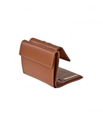 El Caballo Monedero pequeño de piel Sedamar cuero -13x10x3cm-