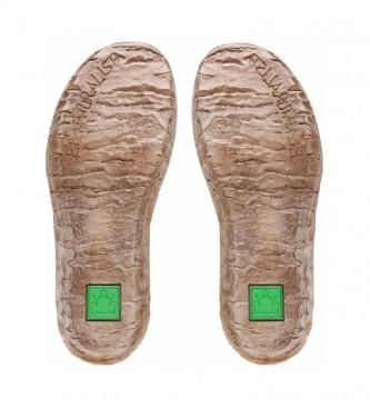EL NATURALISTA Stivaletti Myth Yggdrasil N5146 in pelle marrone -Altezza zeppa: 5,7 cm-