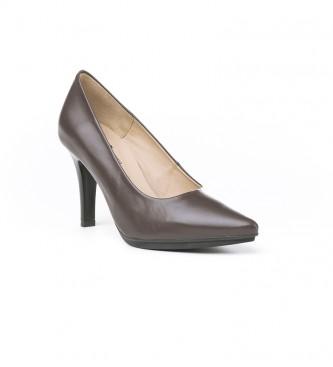 Eva Mañas 1500 scarpe in pelle marrone -Altezza tacco: 8,5 cm-
