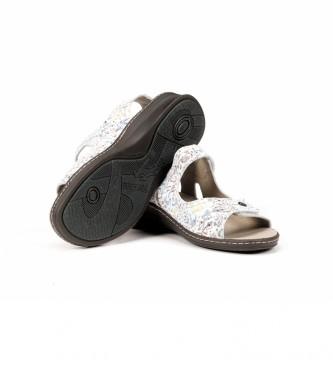 Fluchos Sandalias de piel 8629 Lira Blanco blanco