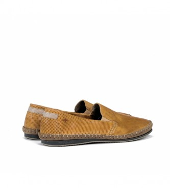 Fluchos Leather moccasins 8674 Bahamas mustard