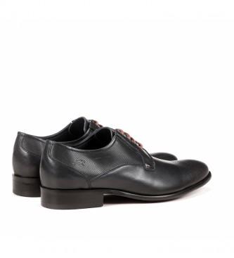 Fluchos Sapatos de couro 9321 Memória preta