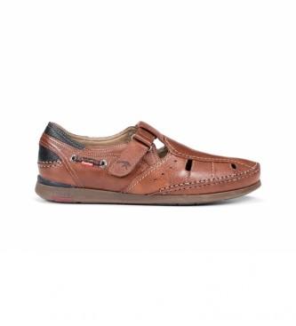 Fluchos Sandálias de couro Mariner 9882 castanho
