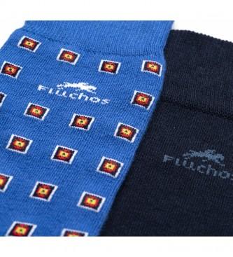 Fluchos 2-pack of socks Ca0003 blue, navy