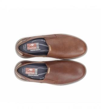 Fluchos Mocasines de piel Jones F0466 marrón