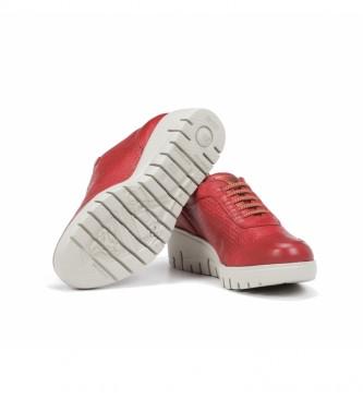 Fluchos Scarpe in pelle F0727 rosso - Altezza zeppa: 5 cm