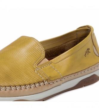 Fluchos Zapatos de piel Kendal F0814 amarillo