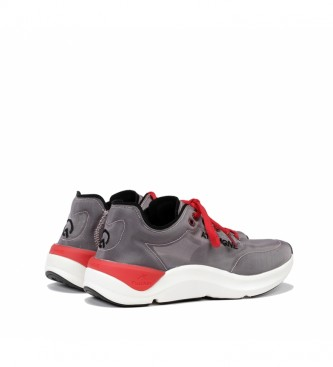 Fluchos Sneakers Atom F0880 cinza, vermelho