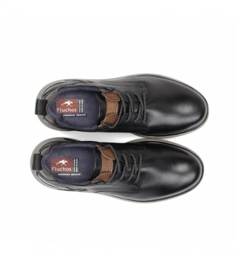 Fluchos Leather shoes Cooper F0966 black