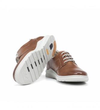 Fluchos Leather Sneakers F1159 Brown Gange