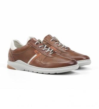 Fluchos Zapatillas de P iel F1162 Gange marrón