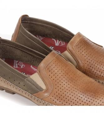 Fluchos Mocasines de piel F1172 Surf marrón