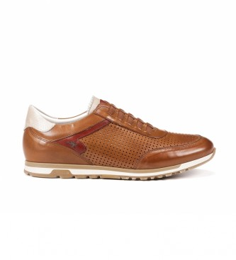 Fluchos Zapatillas de piel F1189 Habana marrón