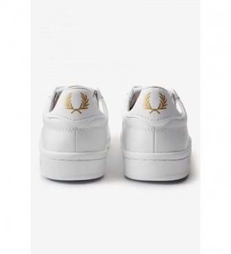 Fred Perry Sneakers in pelle B721 bianco, oro