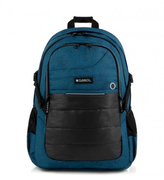 Gabol Mochila azul de trabalho -33x47x20cm-