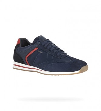 GEOX Leather sneakers Edizione navy