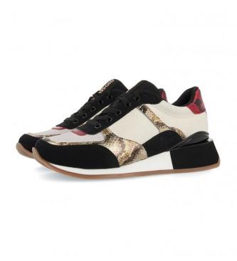 Gioseppo Sapatos de couro Kirov branco - altura da cunha: 5cm