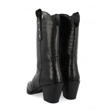 Gioseppo Botas de piel Rerik negro -Altura tacón: 6 cm-