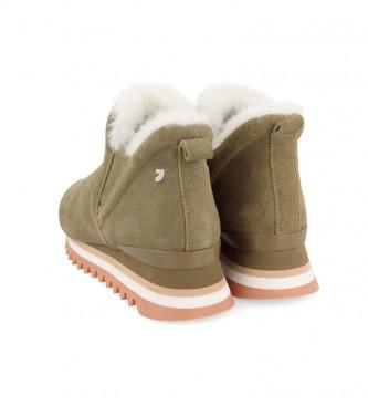 Gioseppo Eckero botas de couro preto - altura da cunha: 3,5 cm