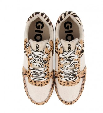 Gioseppo Beige Bikaner leather shoes - Inner wedge height + sole: 5.8cm