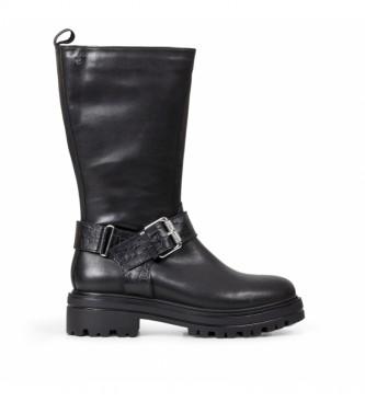 Gioseppo Botas de piel Vallendar negro -Altura tacón: 4,5 cm-
