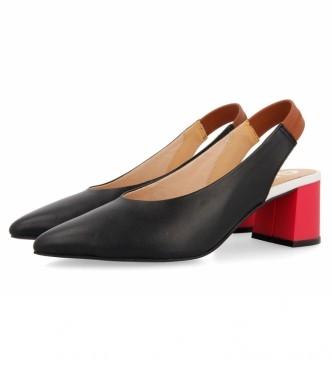 Gioseppo Zapatos de Salón de piel Amenia con Tacón en Contraste negro -Altura tacón: 5cm-
