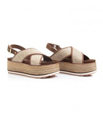 Comprar Gioseppo Sandalias de piel Chaidari natural Altura