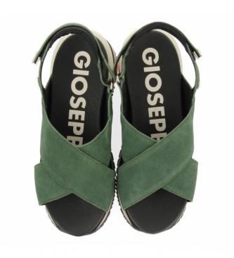 Gioseppo Sandali Cayce in pelle verde
