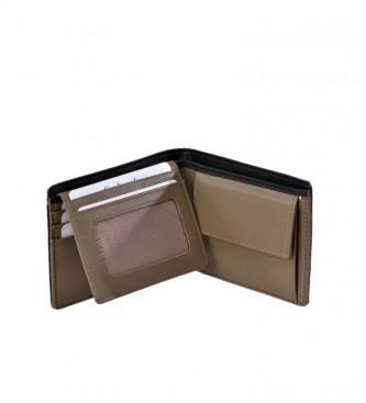 Guy Laroche Couro Americano GL-3724 com bolsa de moedas bege -11x8x2cm
