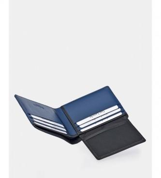 Guy Laroche Cuir américain GL-3725 bleu -11,5x8x1,5cm