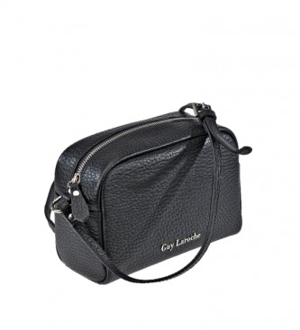 Guy Laroche Leather shoulder bag GL-12182G black -21x15x9cm