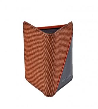 Guy Laroche GL-3722 portafoglio in pelle arancione -8,5x10,5x1,5cm-