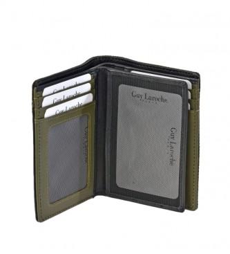 Guy Laroche Leather wallet GL-3720 green -8,5x11x1cm