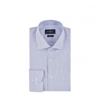 HACKETT Twill Two Col Str Shirt blue