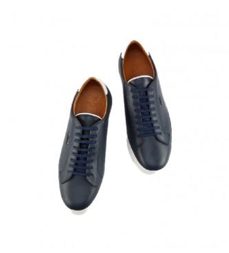 HACKETT Zapatillas  de piel Charlton Cupsole marino