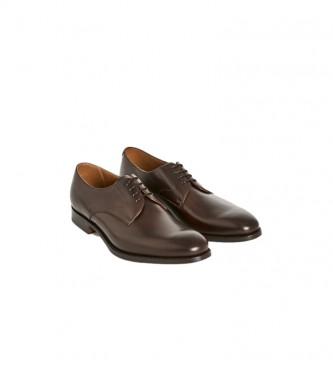 HACKETT Chaussures Derby en cuir marron